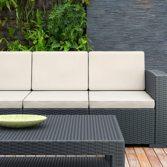 plastic rattan garden furniture
