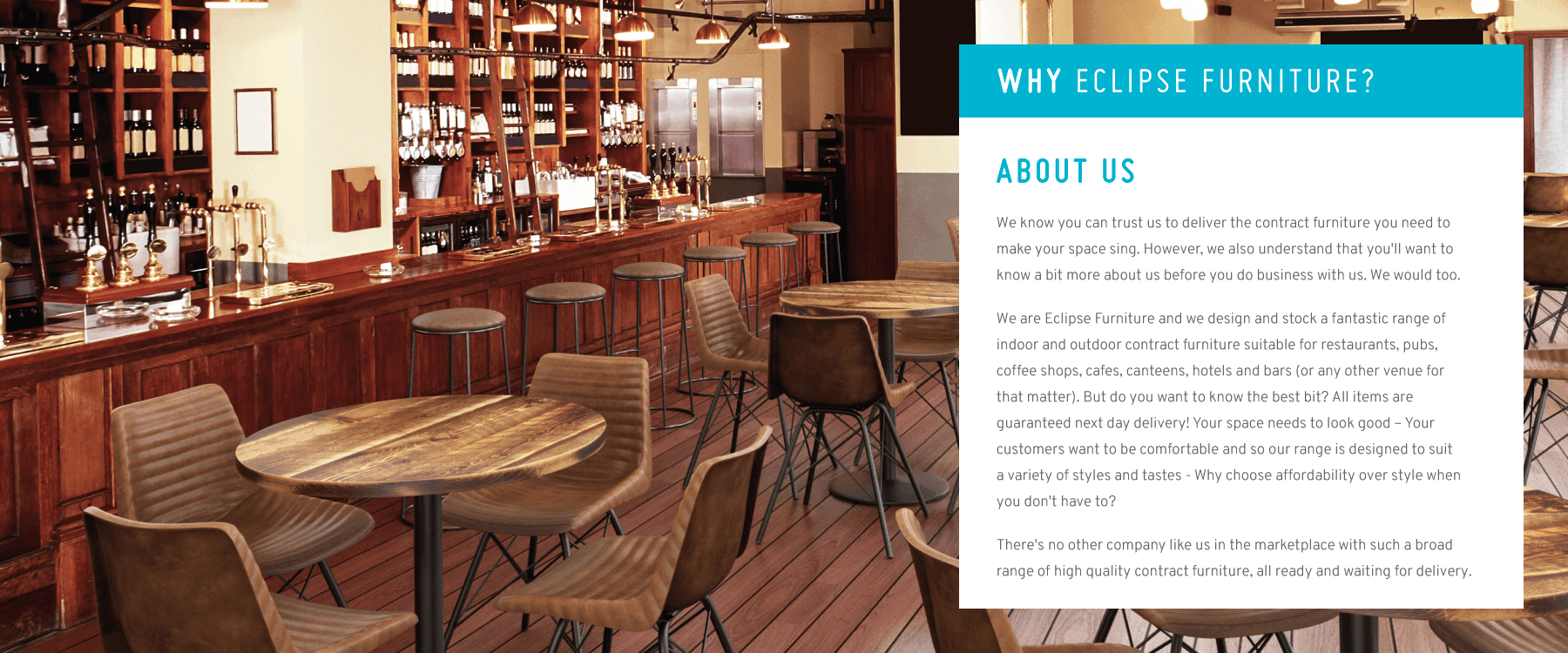 Eclipse Furniture Contract Furniture Suppliers For Pubs