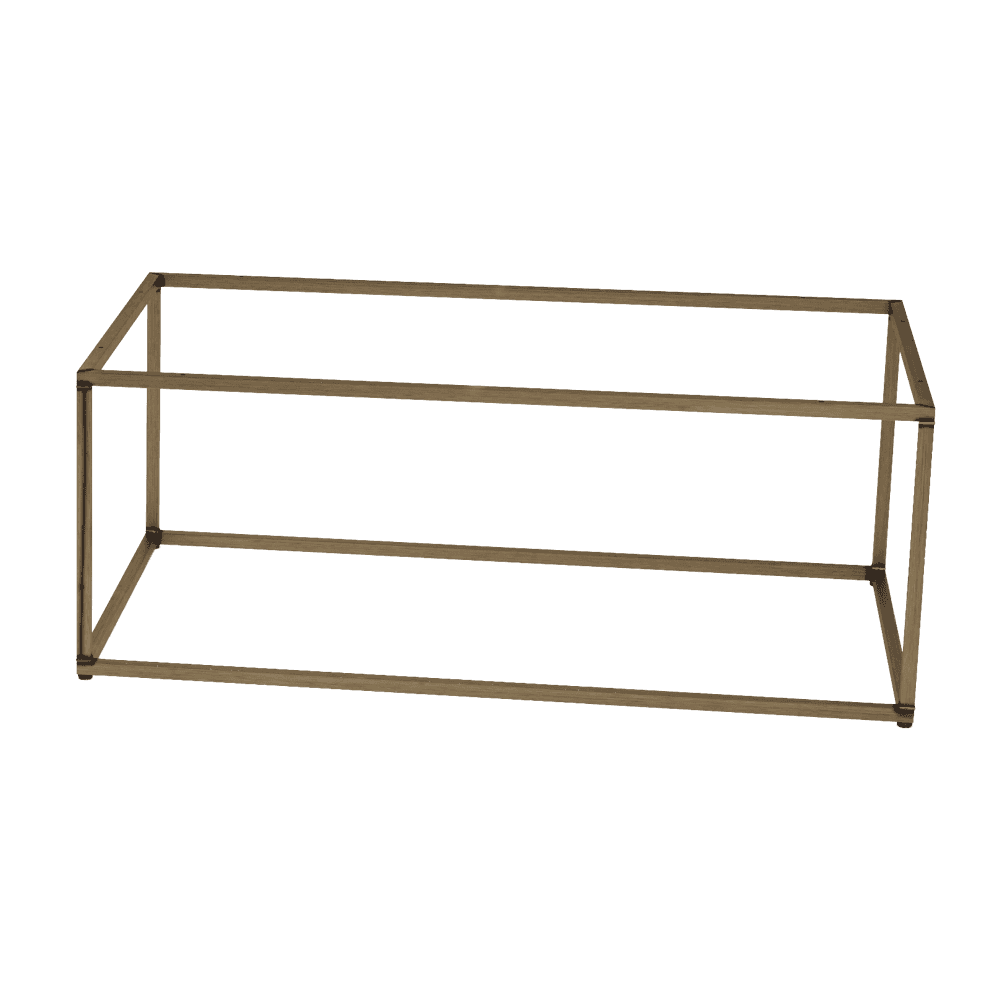 Quarto vintage steel coffee table base rectangular