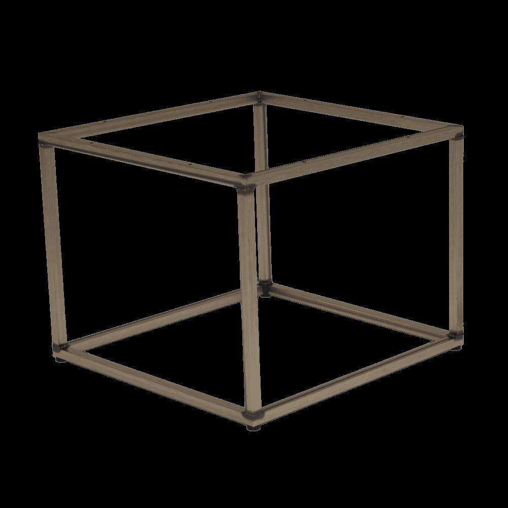 Quarto vintage steel coffee table base square