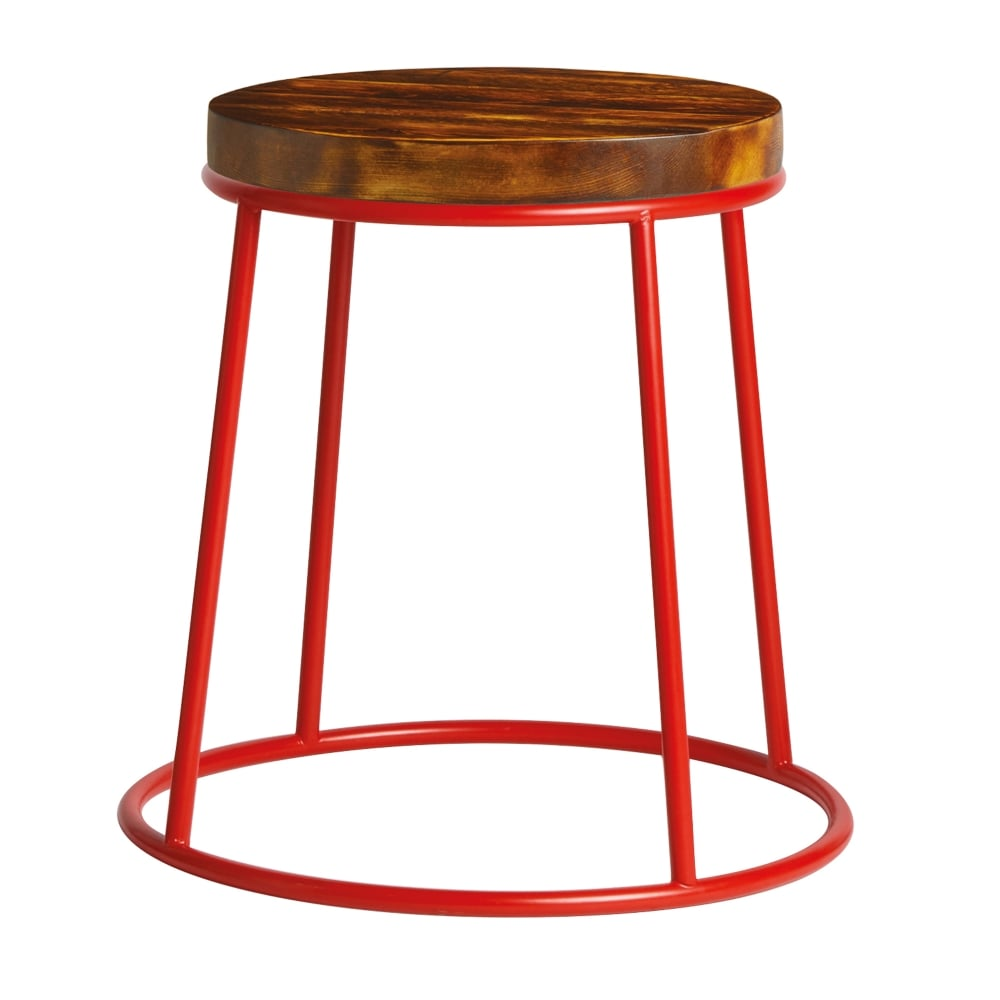Toto Low Stool - Vintage Wood Seat Pad - Indoor Seating from Eclipse ...